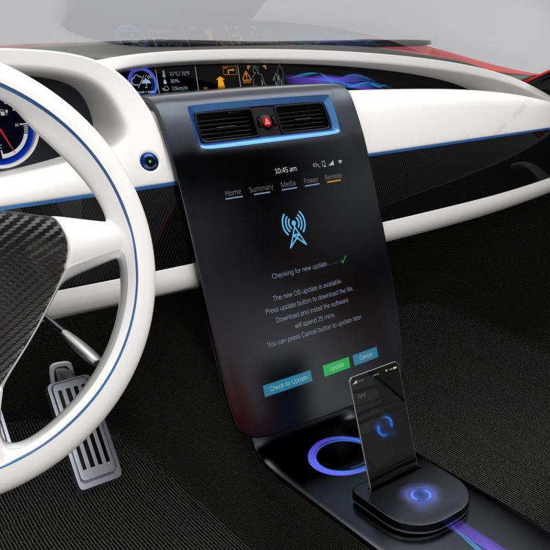 Cross Sector expertise. Car dashboard. BlueThink Technology, Engineering, Industrial, Product, Design and Mechanical Consultants and assisting with Automotive design engineering. Product innovation sectors BlueThink