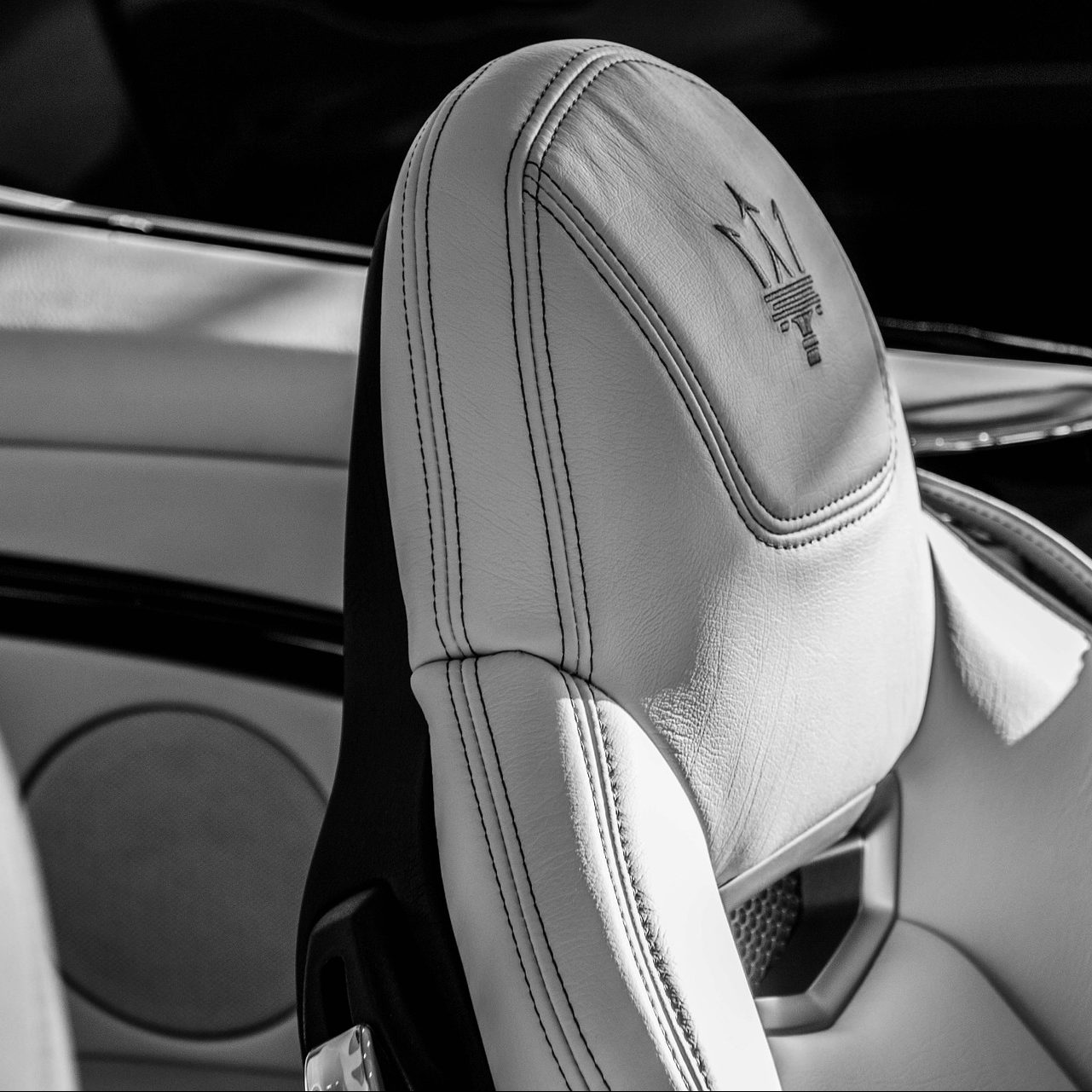 Maserati Granturismo car seat. BlueThink Technology, Engineering, Industrial, Product, Design and Mechanical Consultants and assisting